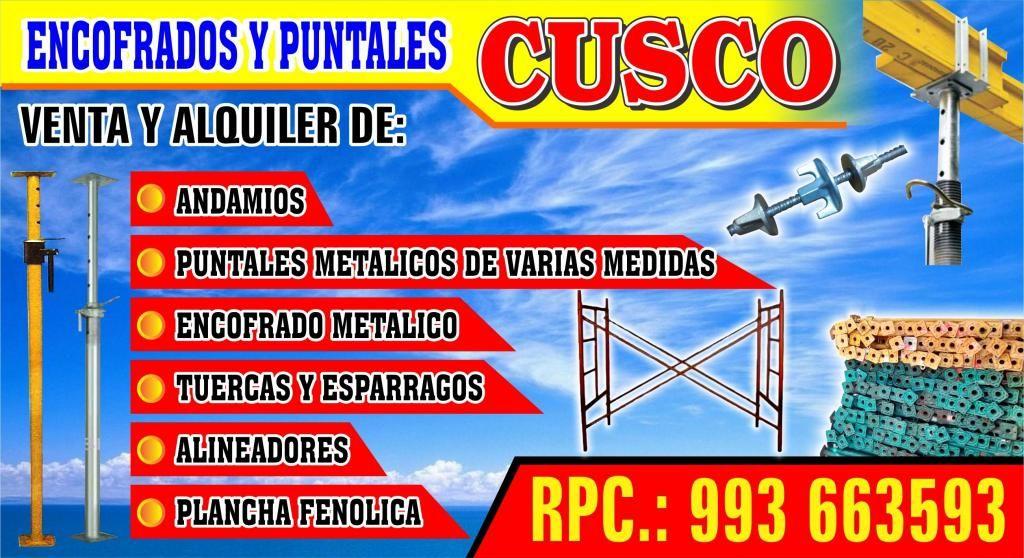 ALQUILER Y VENTA DE PUNTALES METÁLICOS EN CUSCO