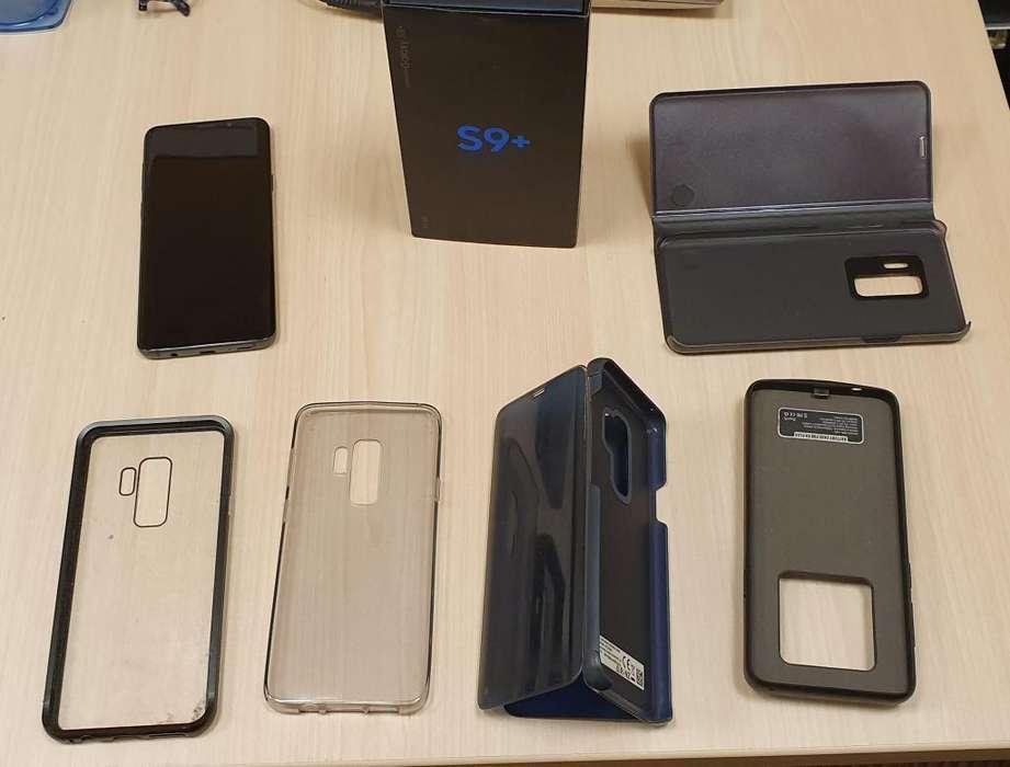 Samsung Galaxy S9 Plus 64gb Ram 6gb Libre D Fabrica dual sim con sus fundas y un cargador portatil