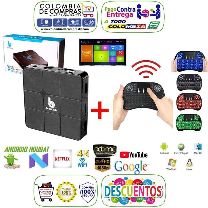 Combo Tv Box 4k D.D 8 GB Ram 1GB Quad Core Mini Teclado Con Mouse, Americano, Nuevos, Originales, Garantizados...
