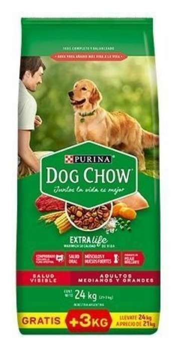 Purina Dog Chow 24 Kg Adultos