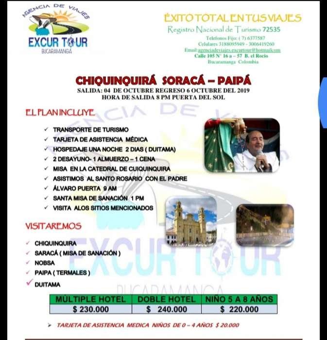 Tour Chiquinquirá, Soracá, Paipa