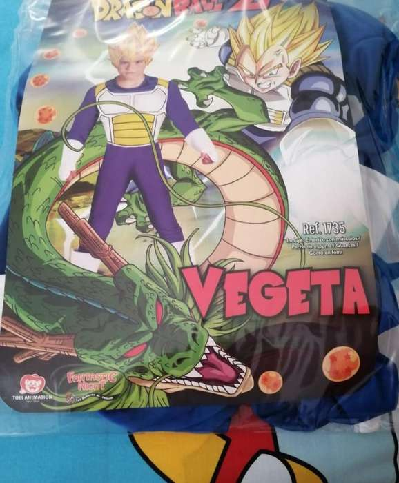 Disfraz de Vegeta para Niño de 4 a 5 Año