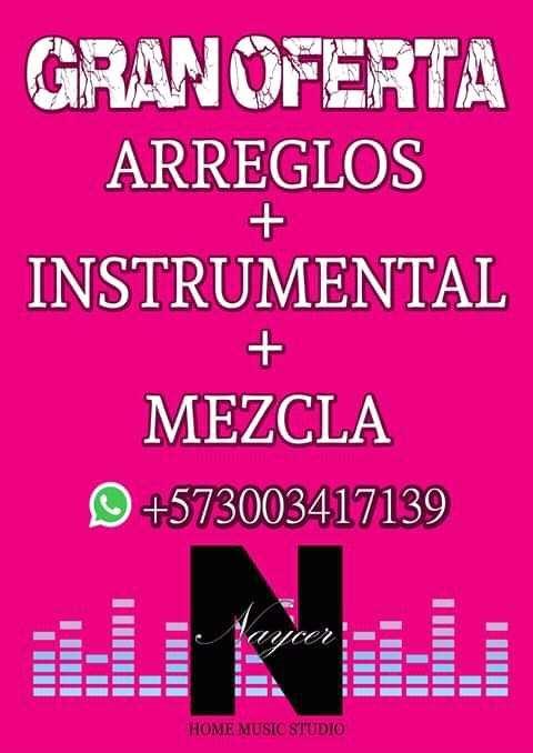 PRODUCCIÓN MUSICAL, ARREGLOS, COMPOSICIÓN, CREACIÓN DE PISTAS, ETC.