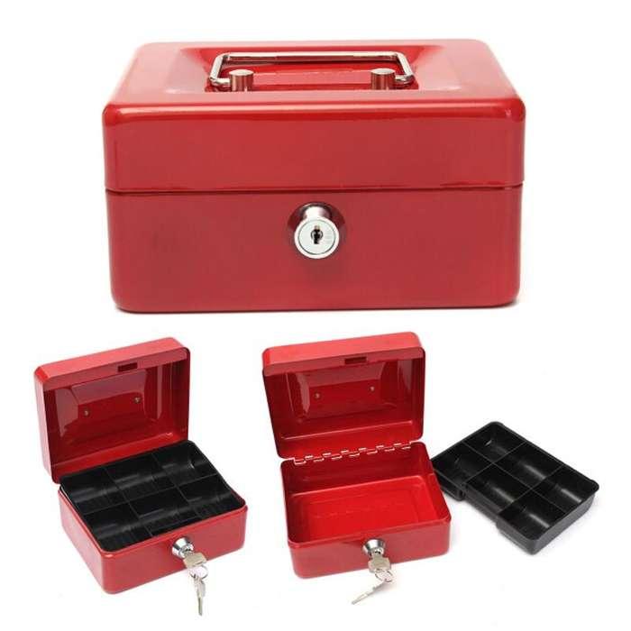 Caja Menor En Acero Con Llave Cash Box Compartimientos