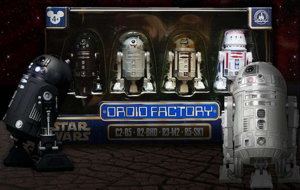 DROID FACTORY BOX SET / C2 B5, R2 BHD, R3 M2 y R5 SK1 / ROGUE ONE A STAR WARS STORY / DISNEY PARKS EXCLUSIVE