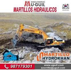 MARTILLO HYDROKHAN NUEVOS Y USADOS PARA EXCAVADORAS