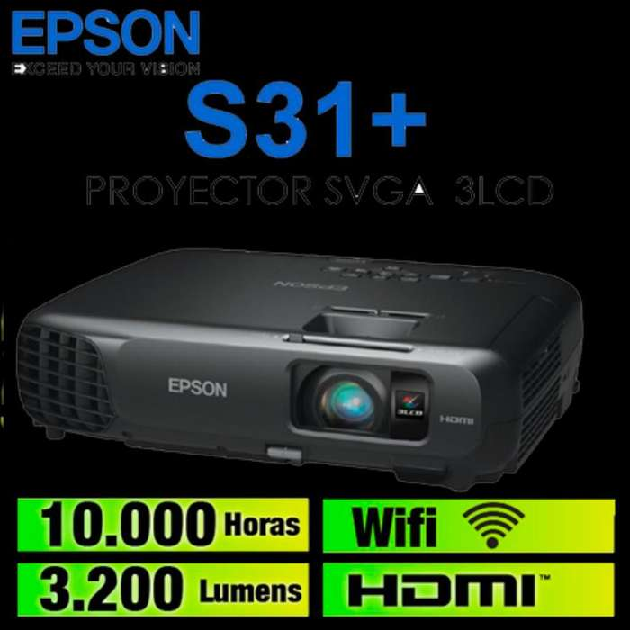 Proyector Epson S31 3200 Lumenes