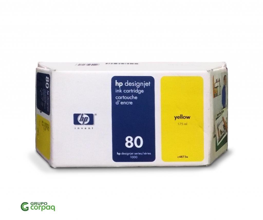 Tinta Hp 80 Yellow 175ml presentación Antigua Liquidación