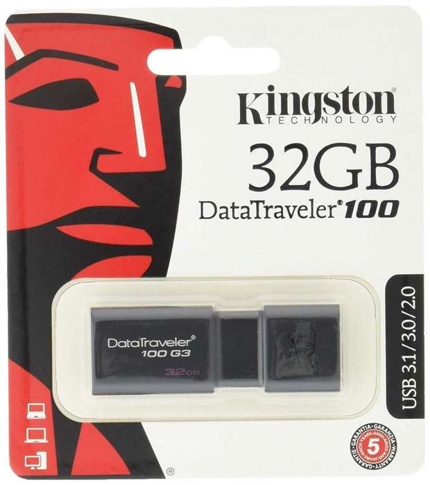 Flash Memory 32gb 3.1 Kingston DataTraveler 100 G3