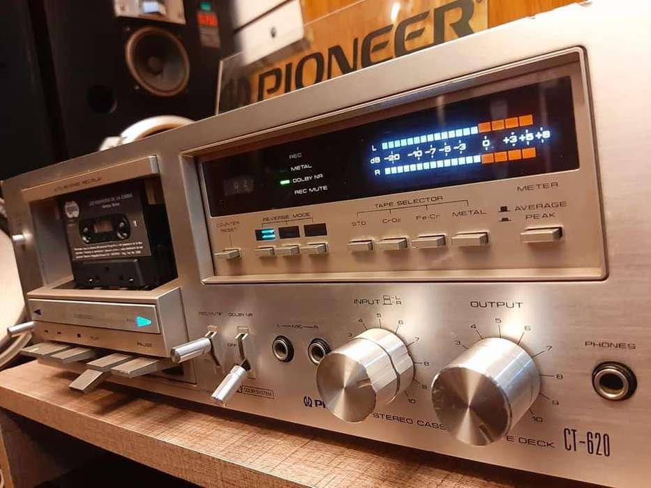 Deck Cassettera PIONEER CT-620- technics sansui sony