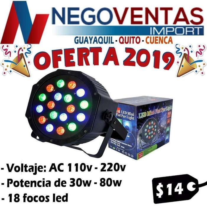 TACHO LED 18 FOCOS POTENCIA 30W 80W A 11O VOLTIOS