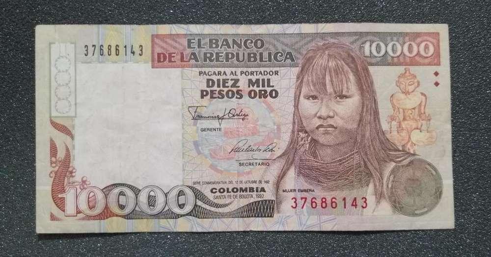 Antiguo Billete de 10000 Pesos
