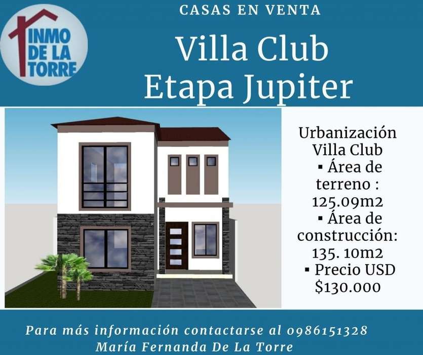 Casa en Venta Villa Club, 3 dormitorios con 3 baños, Samborondón