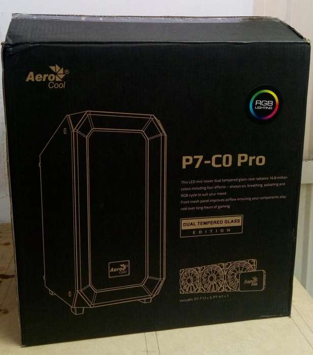 Caja Gamer Aerocool Project 7 P7co Pro Rgb Vidrio Templado