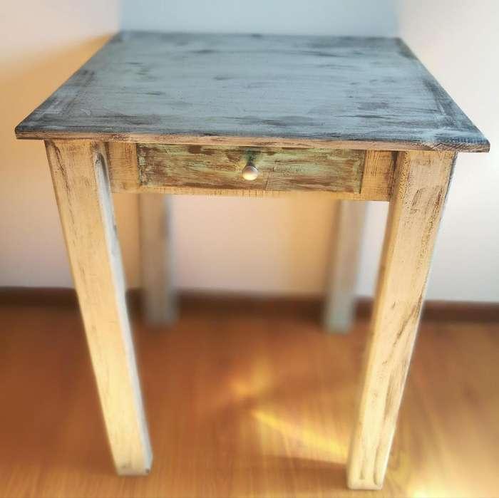 <strong>escritorio</strong> pino con cajon