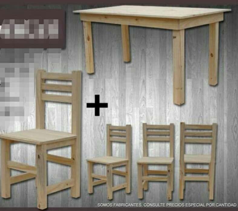 Mesa 1.mts Más 4 <strong>silla</strong>s Nuevos