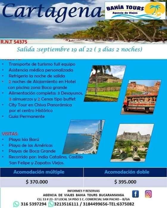 Tour Cartagena Promocion 19 Septiembre