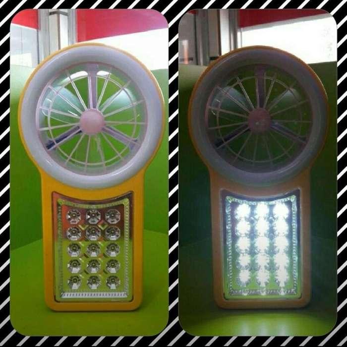 Luz de Emergencia con <strong>ventilador</strong>