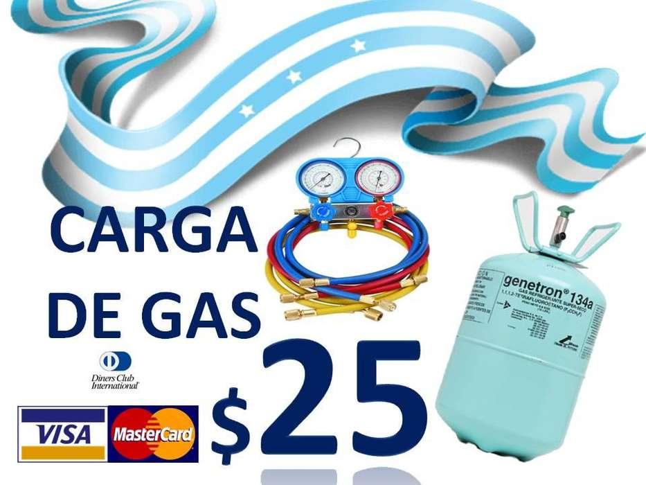 AIRE ACONDICIONADO AUTOMOTRIZ para toda marca de vehículos, Carga de GAs 25 y Mantenimiento A/C 50