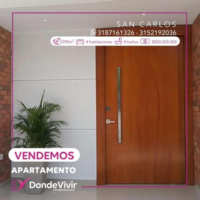 Vendemos Apartamento en San Carlos