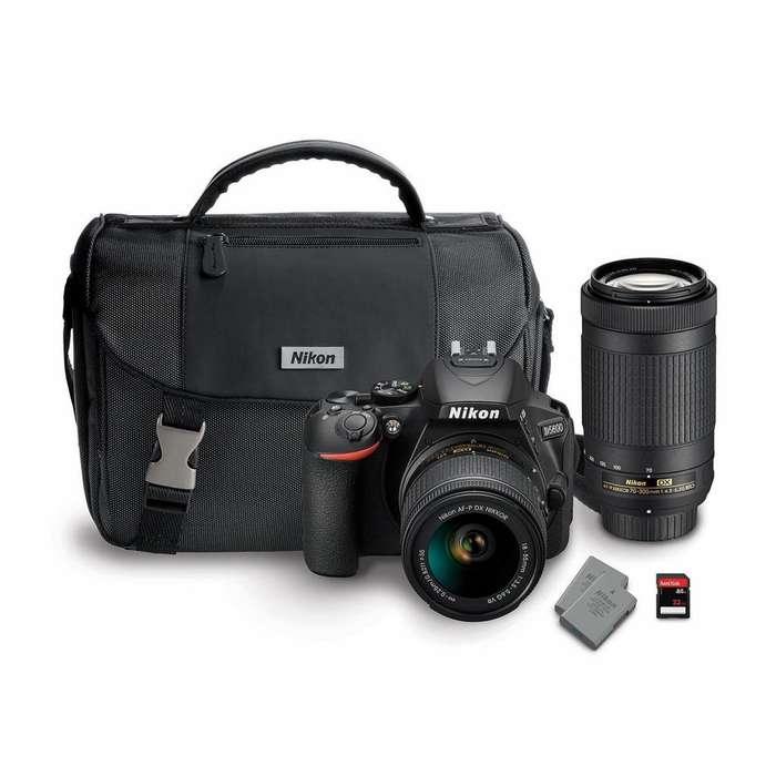 Camara Nikon D5600 Lentes 18-55 700-30 32gb Sd Maletin