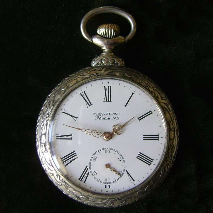 Impecable Reloj Bolsillo caja firmada F. Rainier / Maxim Nord