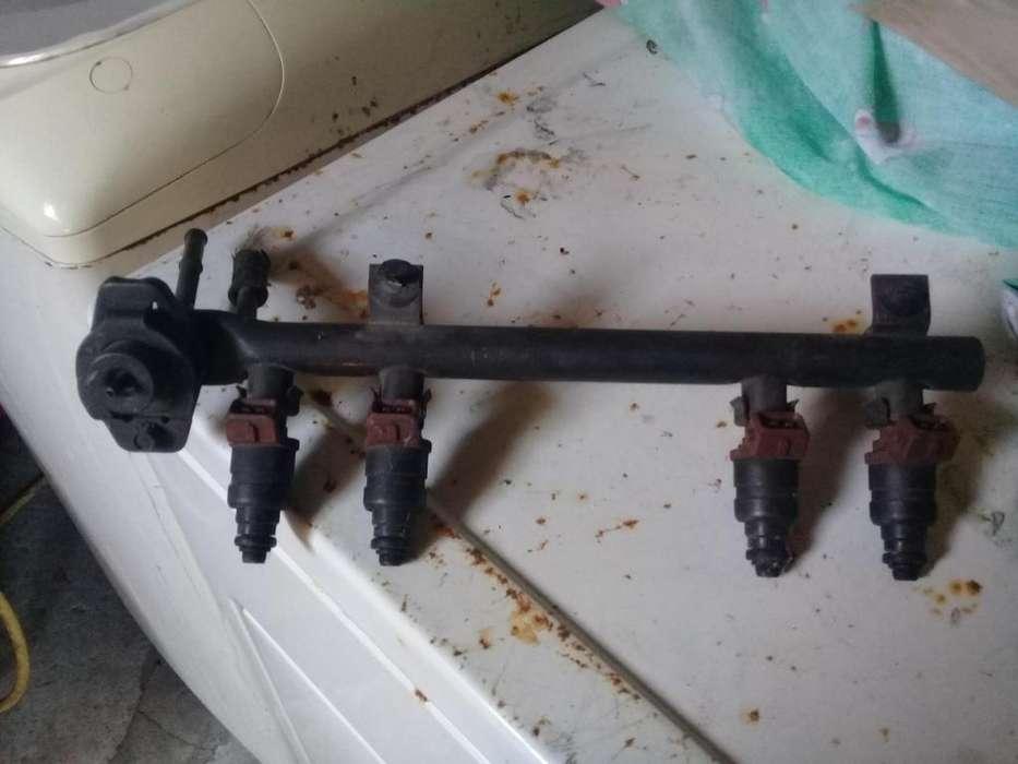 Flauta con inyectores