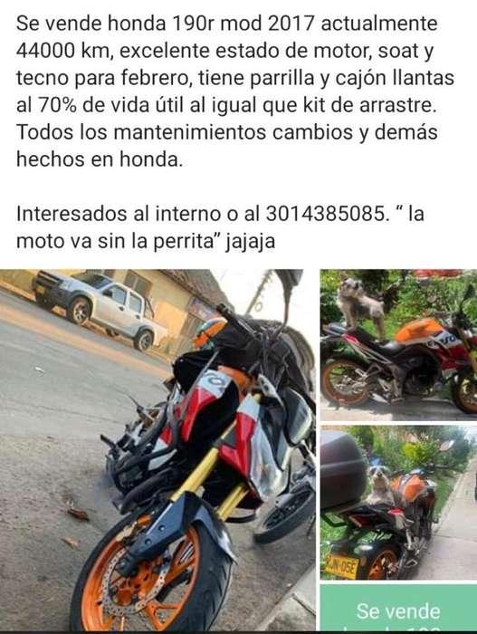 Venta Moto Honda Cb190R
