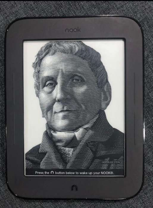 Lector tipo kindle Nook Bnrv300. <strong>barato</strong>