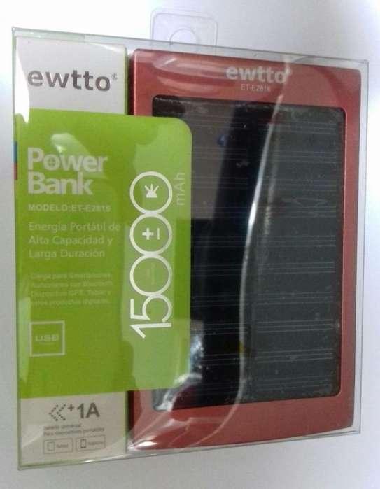 Cargador Solar Power Bank Ewtto 15000 mah Linterna Led Tucumán