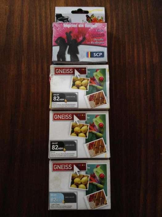Cartuchos Epson 82 Alternativos combo unidad
