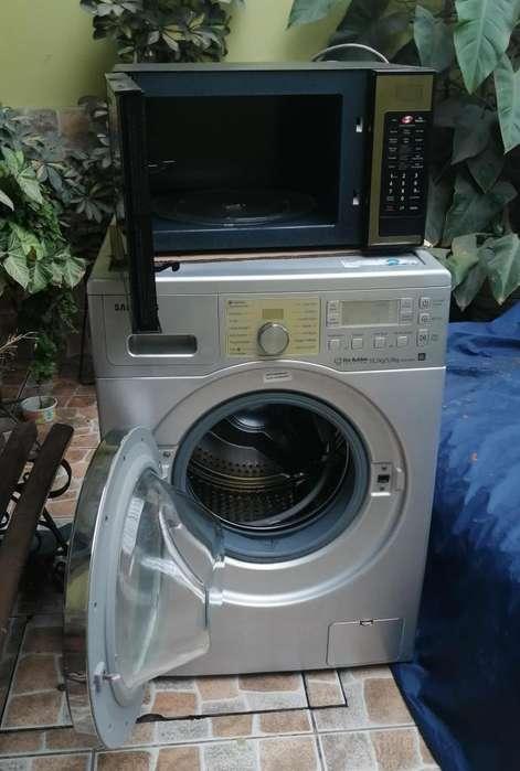 vendo lavadora secadora samsung 10kg horno cheff samsung