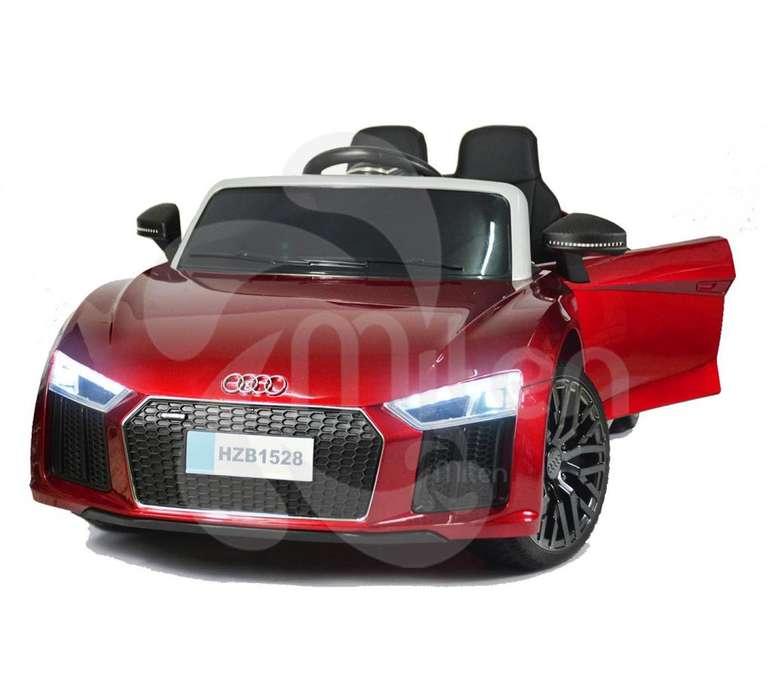Audi R8 Spider Electrico montable niños, control remoto, USB Musica