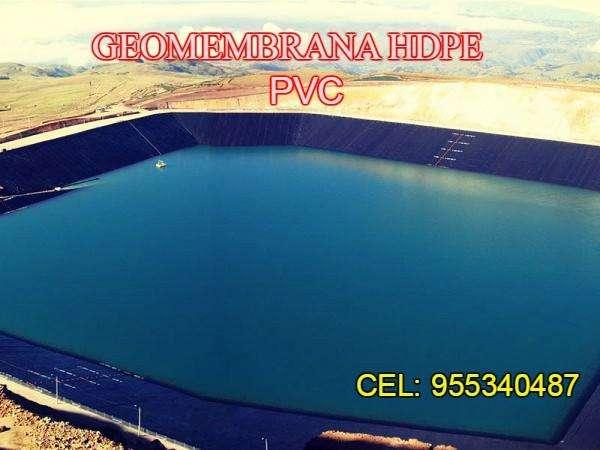 GEOMEMBRANA HDPE Y PVC DE 0.5mm, 075mm,1mm, 1.5y 2mm