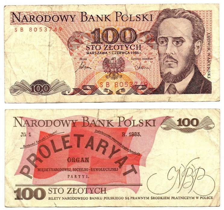 POLONIA. BILLETE. 100 ZLOTYCH. 1986 JUN 01. ESTADO 6 DE 10. VALOR 1000