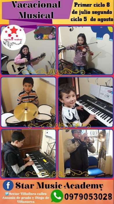 Cursos Vacacionales de Musica, Clases de