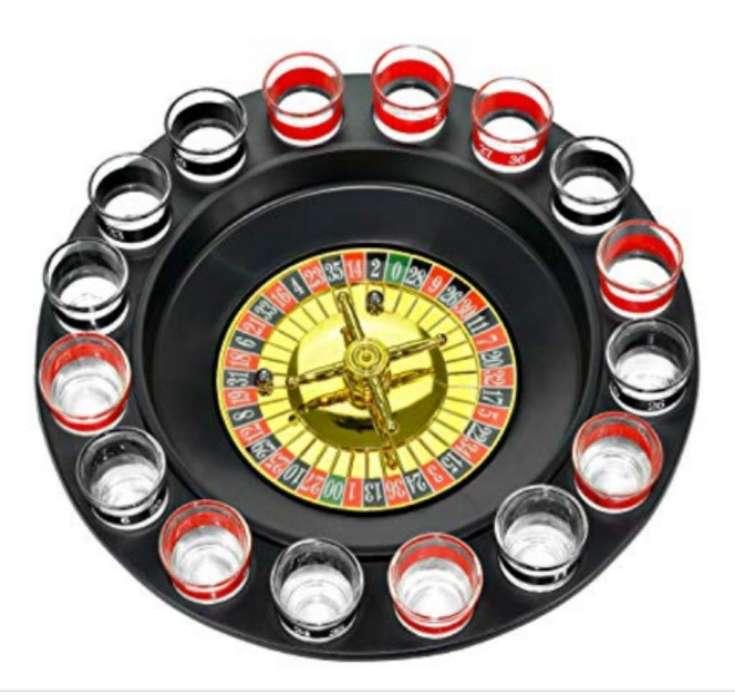 Juego para Previas Drinking Roulette Set