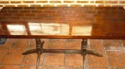 Mesa rectangular comedor patas de cedro 2 mts