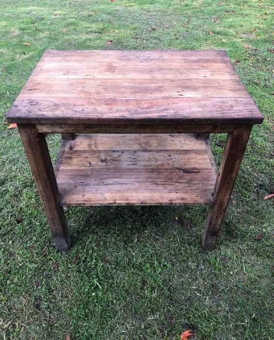 <strong>mesa</strong> de madera rustica, medidas 90 x 90 x 60