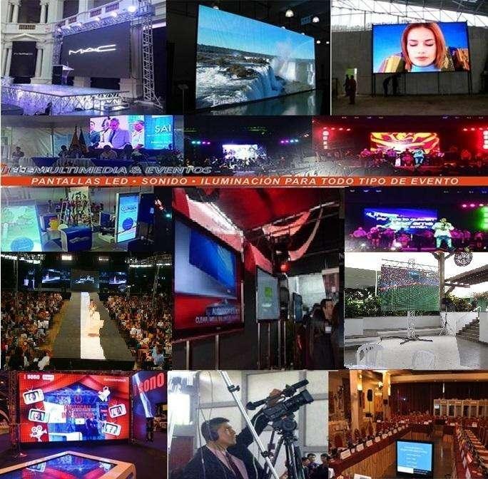 ALQUILER PANTALLA LED STREAMING, SONIDO PROFESIONAL, PROYECTOR TELEVISORES FILMACION Ecrams /Ofertas dsde 30 x Mtr2