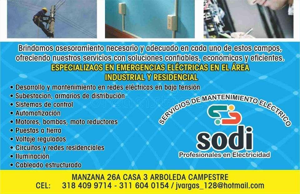 servicios de mantenimiento en elec tricidad SODI
