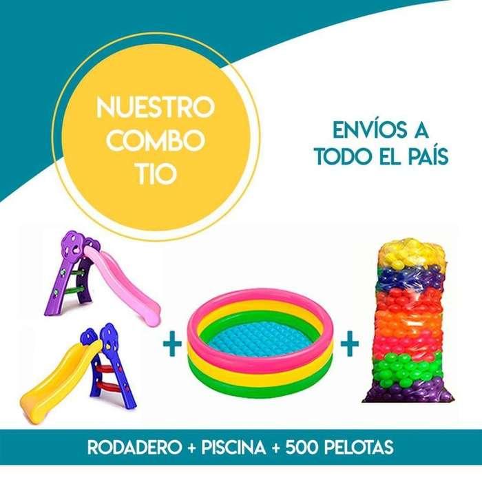 Combo Piscina de Pelotas con Rodadero