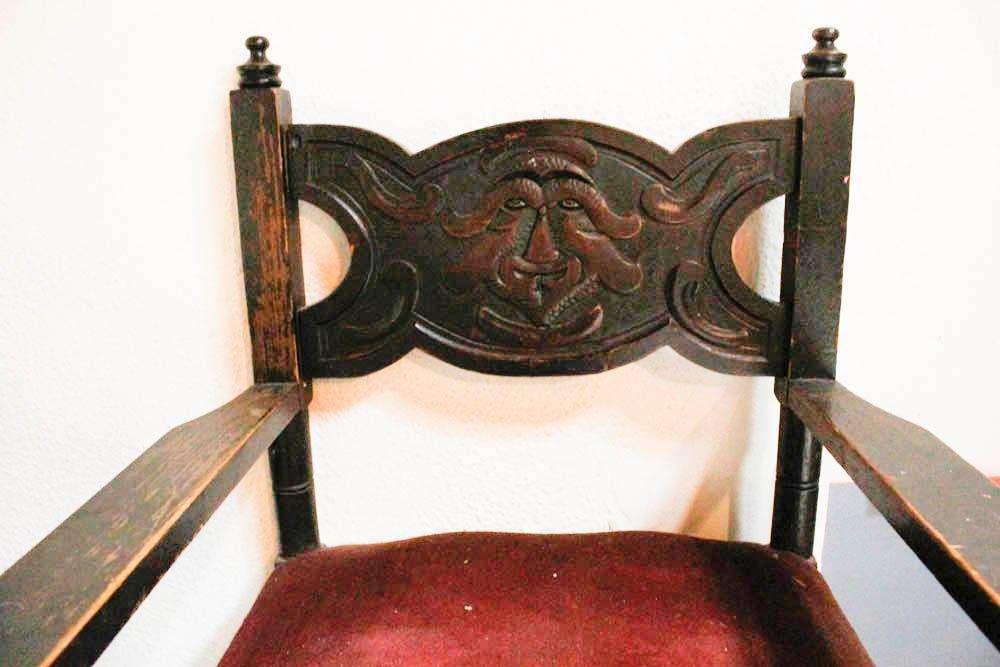 <strong>sillon</strong>es Antiguos Sillas Antiguas Madera Tallada A Retapizar