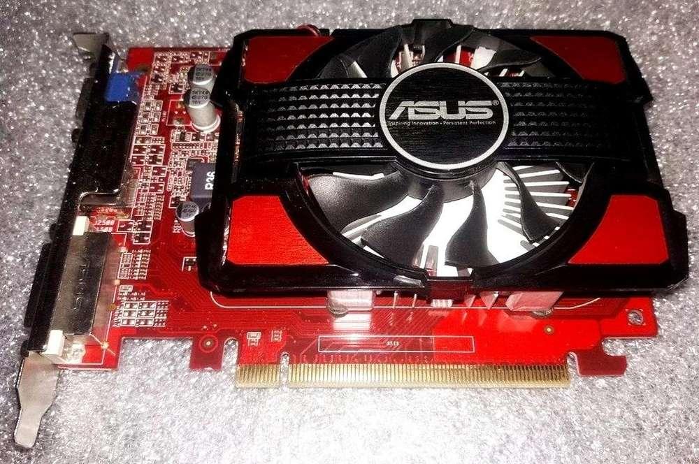 PC Tarjeta Video Gráfica ASUS R7 250, DDR5, 1GB. HDMi, DVi, VGA. jugar DOTA2, GTA5, Fortnite. REMATE 150 Soles