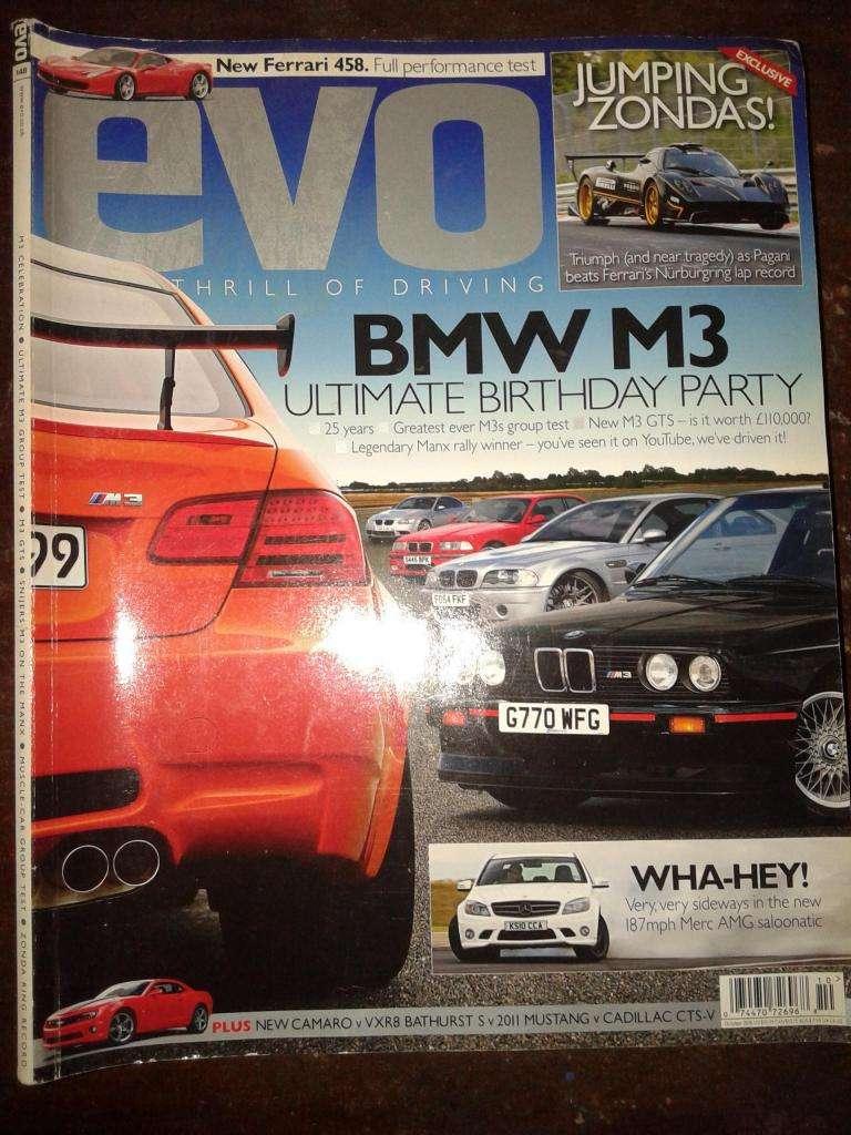Revista Evo nro 148 Bmw M3 Camaro Mustang Cadillac En Ingles