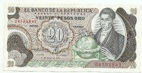 Se vende antiguo billete de 20 pesos