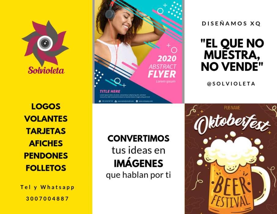 DISEÑO DE VOLANTES, TARJETAS, PENDONES, LIBROS, AFICHES, MENÚ