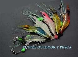 Camaron Pack 3 Uni. Langostino Señuelo Pesca Carnada Anzuelo