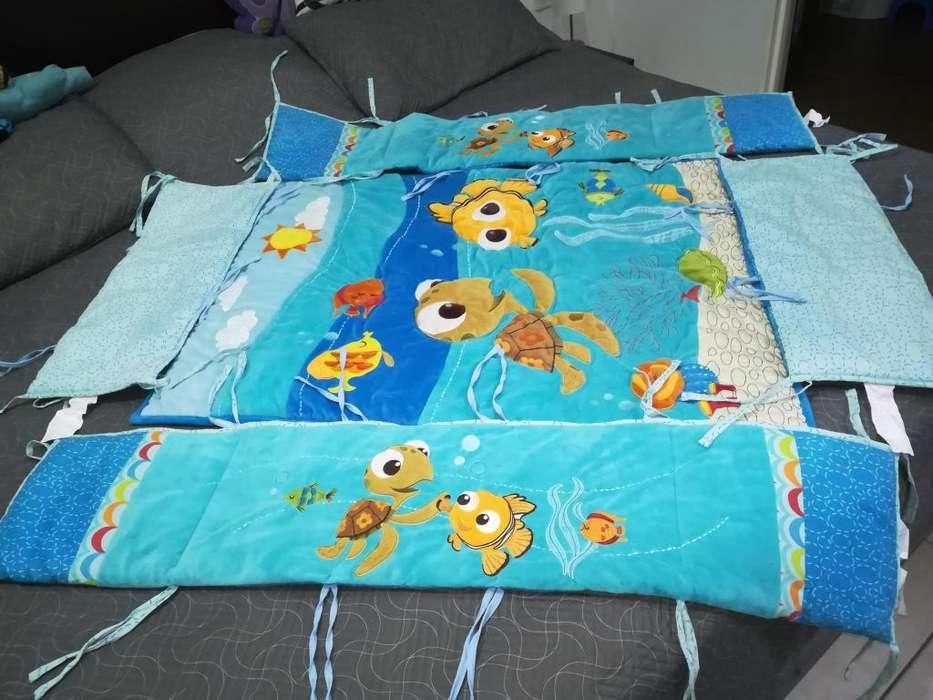 Hermosa lencería para cuna de bebe