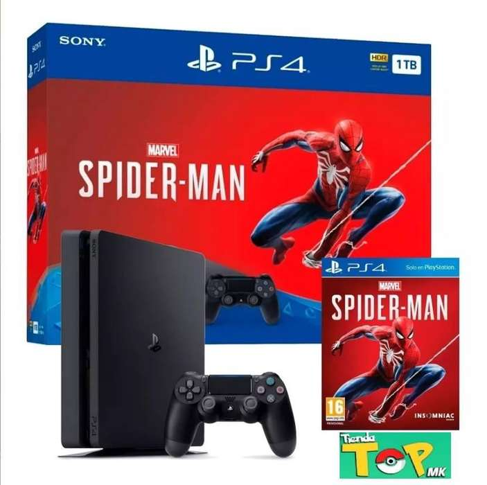 Ps4 Slim 1tb, Marvel's Spider-man Bundle - Tiendatopmk